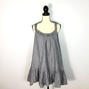 Zara Trafaluc Collection Blue Gingham Swing Top- L